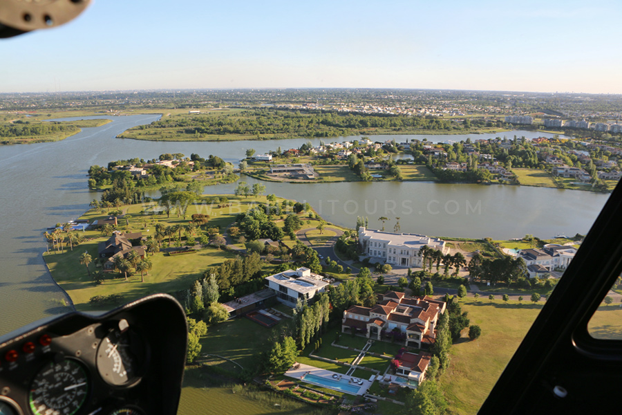 Helicopter tours over the Delta