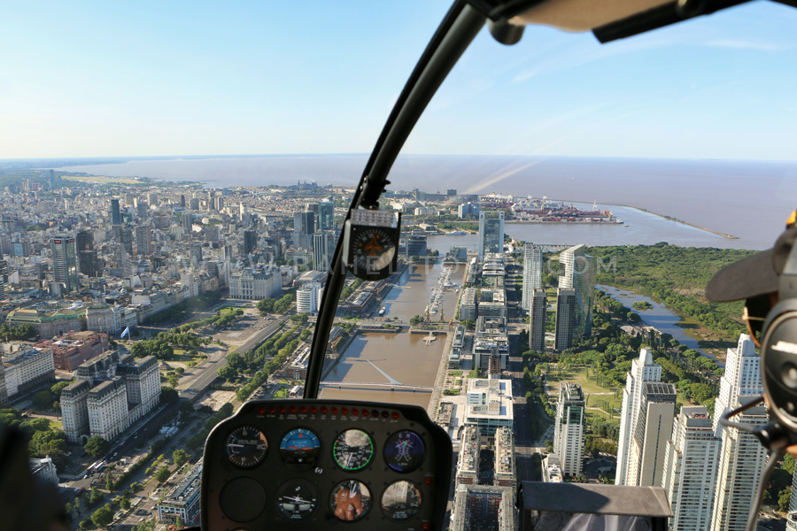 Panoramic rides by helicopter