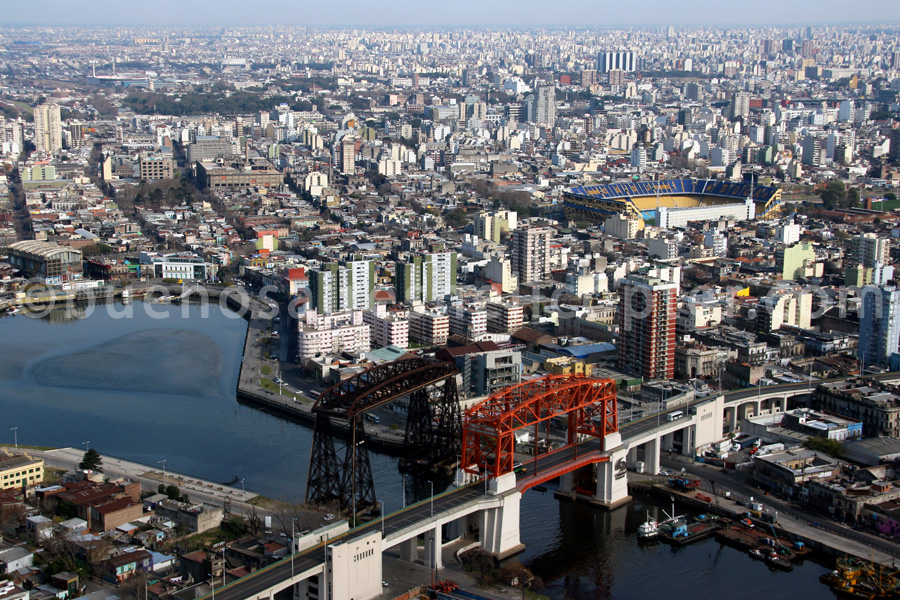Avellaneda bridge and La Boca